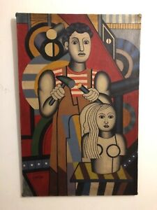 painting oil on canvas Fernand Leger french painter cubist