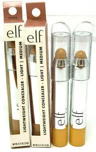 (4) e.l.f. ELF Beautifully Bare Lightweight Concealer NIP 95042 Light / Medium