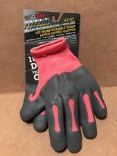 XXL Madgrip Pink/Gray  Latex Knuckler Gloves Nonslip Grip Water Resistant
