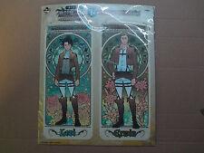 Banpresto Ichiban Kuji. Price I. Long format post card set, Levi & Erwin.