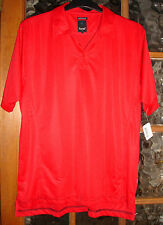 BNWT KARTEL POLO SHIRT SIZE XL RED KARTEL LINKS TECHNICAL FIT SOFT JERSEY FABRIC