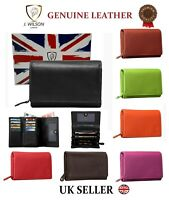 LADIES DESIGNER PURSE LEATHER WALLET GENUINE CREDIT CARD HOLDER PURSE GIFT BOXED