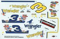 Monogram Revell 1:24 #3 Wrangler Monte Carlo Stock Car Decal Sheet #6298UX