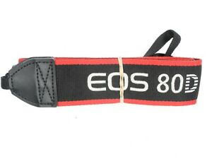Canon EOS 80D Genuine Black / Red / White Camera Neck Strap