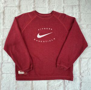 Vintage 90s Nike Essentials Women's Red Sweatshirt - Size 12/14