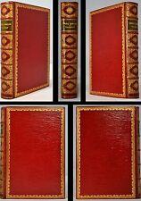 1905 THACKERAY HENRY ESMOND RIVIERE SIGNED STRAIGHT GRAIN MOROCCO LEATHER FINE