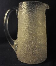 "Overshot glass pitcher creamer Boston and sandwich clear 6"" b2"