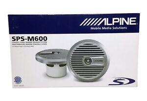 "Alpine SPS-M600 Marine 6-1/2"" Speakers Set (white)"