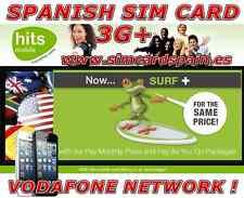 SPANISH HITS MOBILE 3G SIM CARD VODAFONE INTERNET SPAIN