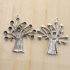 2pcs Tibetan Silver color tree design pendant charm G1992