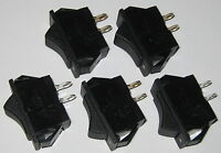 5 X Miniature Rocker Switches - SPST - 125V 15A - 1/2 HP - Swann Industries 39