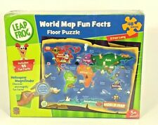 Master Pieces - Leap Frog World Map Fun Facts 2ft. Floor Puzzle 48 pcs (New)