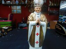 POPE JOHN PAUL ii MIKE WAYNE CO. AMARETTO SYRUP BOTTLE DECANTER