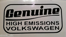 Genuine High Emissions Volkswagen Sticker VW Lupo Touran Tiguan Beetle Sharan Up