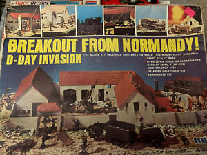 RARE MPC Breakout from Normandy D-Day Invasion 1/72 Plastic Model KitWWII Boxed
