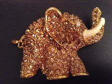 "Stunning Signed Princess Amanda ""Ellie"" Elephant Brooch 3 1/2"" X 2 1/2"""