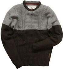 Maglioni e cardigan da uomo regolare marrone in lana
