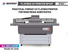 Bp32f Practical Format Uv Flatbed Printer 3x2 For Rigid Media Substrates