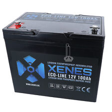 XENES ECO-Line 12V LiFePO4 Smart-BMS Lithium Solar Strom Versorgungs Batterie