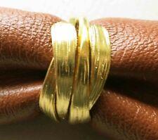 Vintage Sundance Artisan 24kt Gold Vermeil  Sterling Origami Ring Size 10