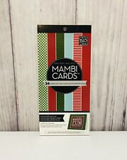 "MAMBI 24 Pre-Scored Cardstock Cards 5.25"" x 10.5"" New"