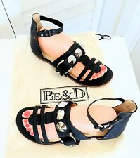 "BE & D 'Montauk"" Flat Studded Gladiator Sandals Size 39 Retail $395!!"