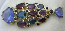 Swarovski Signed multicolored Rhinestone Dangle Pin Jewelers Collection Brooch