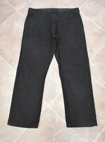 M&S - Mens Black Soft Feel Cotton Canvas Jeans - size 39W / 30L