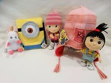 UNIVERSAL STUDIOS DESPICABLE ME HAT,NOTEBOOK,UNICORN KEYCHAIN,AGNES&EDITH DOLLS