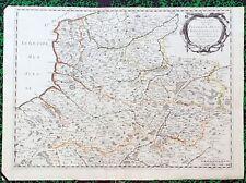 XVII ème - Picardie Artois Boulonais Belle Carte par Sanson 58 x 42  Editée 1651