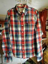 NWT ..ABERCROMBIE & F .. Men's Casual Summer Plaid Shirt .. Size M