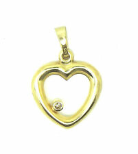 Yellow Gold Round Fine Diamond Necklaces & Pendants