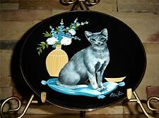 "The Sophisticated Ladies Collection ""Natasha"" Cat Plate"