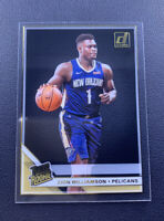 Zion Williamson 2019-20 Panini Clearly Donruss #51 Gold Parallel Rated Rookie RC