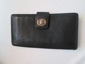 AUTHENTIQUE portefeuille-porte-monnaie COACH cuir TBEG vintage /