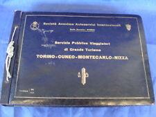 ALBUM FOTO 1928 FS CORRIERA DI GRANDE TURISMO TORINO CUNEO MONTE CARLO NIZZA