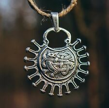 Fire Fox Slavic pendant amulet 925 sterling silver 12g 35x45 mm. Celtic style.