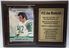 New York Jets Joe Namath Football Card Plaque