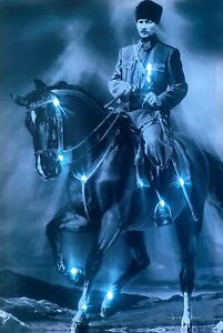 LED Bild Bilderrahmen 65 cm x 45 cm Leuchtbild M. K. Atatürk Samarkand-Lights