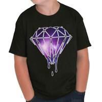 Bleeding Melting Galaxy Cool Cute Edgy Diamond Designer Youth Tee Shirt T