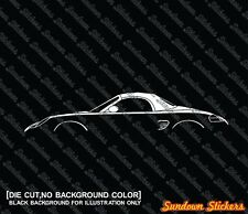 2x silhouette stickers aufkleber - for Porsche Boxter (986) top closed tuning
