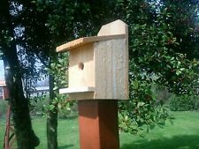 handcrafted  bird house - new unfinished cedar wood -side opens