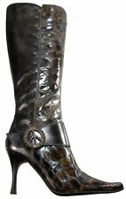 New $525. Donald J Pliner VIDA - 2974 Women Boot size US 6 M Tan / Lead. Italy