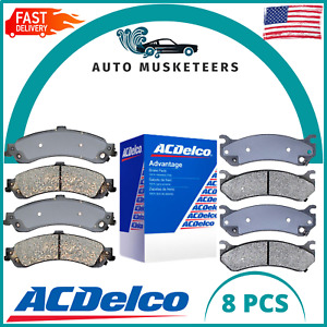 Front and Rear CeFits Ramic Brake Pad Set 8 PCS ACDelco For Chevy Cadillac GMC
