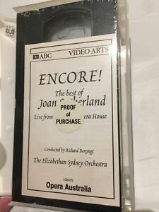 ENCORE THE BEST OF JOAN SUTHERLAND~LIVE FROM THE SYDNEY OPERA HOUSE~VHS New 2000
