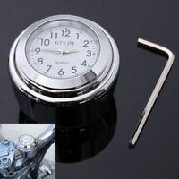 "Universal Waterproof 7/8"" Motorcycle Bike Handlebar Mount Clock Handle Bar Watch"