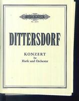 DITTERSDORF - Konzert für Harfe und Orchester - Partitur plus alle Stimmen
