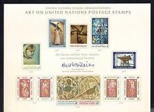 UN United Nations Souvenir Cards Scott #2 M NH 1972 Art On U.N.Postage Stamps