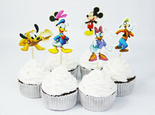 12Pc Mickey Minnie Donald Duck Cupcake Pick/ Flag Toppers Birthday Party Cake