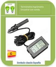 Termómetro Higrómetro Encastrar con Sonda Y Cable